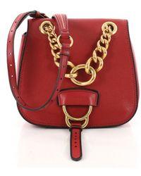 c3a6976eb31f Miu Miu - Pre-owned Dahlia Red Leather Handbags - Lyst