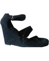 Givenchy Cloth Sandals - Black