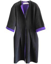 Dior Mantel en Laine Noir