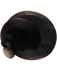Lanvin Black Metal Rings