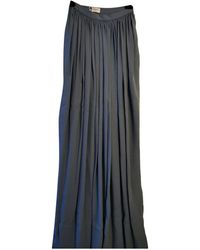 Lanvin Silk Maxi Skirt - Blue