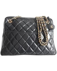 Chanel Leather Handbag - Black
