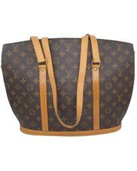37ff605defa4 Louis Vuitton - Vintage Brown Cloth Handbag - Lyst