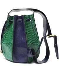 Celine Leather Crossbody Bag - Blue