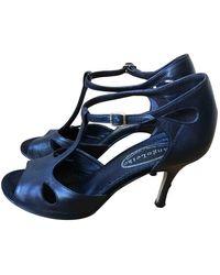 A.P.C. Black Leather Sandals