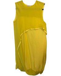 Maison Rabih Kayrouz Silk Mid-length Dress - Yellow