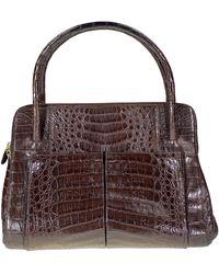 Nancy Gonzalez Crocodile Handbag - Brown