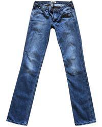 Acne Studios Pantalones en denim - vaquero azul