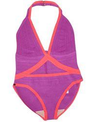 Hervé Léger One-piece Swimsuit - Multicolor
