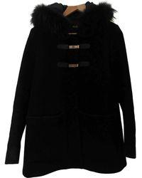 Maje Cappotto in lana marina - Nero