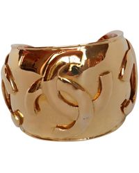 Chanel - Pre-owned Gold Metal Bracelet - Lyst
