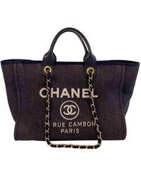Chanel Cabas Deauville - Bleu