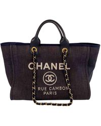 Chanel Pre-owned Deauville Extra Large Tote - Blue