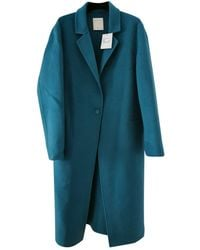 Sandro Wool Coat - Blue