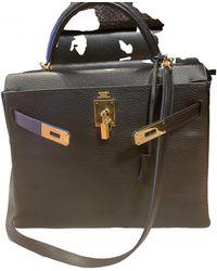 Hermès Bolso Kelly 32 de Cuero - Negro