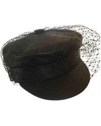 Dior Cappelli in pelle nero