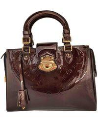 Louis Vuitton Sac à main Melrose en cuir verni - Multicolore