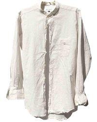 Balmain Top en Coton Blanc