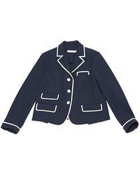 Tory Burch - Navy Polyester Jacket - Lyst