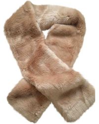 Carven Beige Synthetic Scarves - Natural