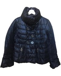 Moncler Classic Wolle Anorak - Schwarz