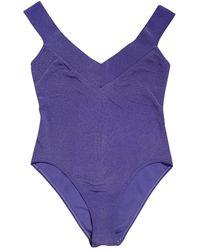 Dior Vintage Purple Cotton - Elasthane Swimwear