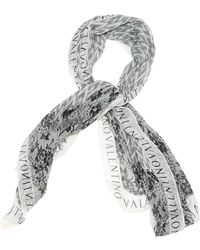 Valentino Seide Schals - Weiß