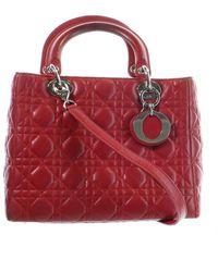 Dior Lady Red Leather Handbag