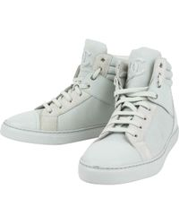 cd8f353fd Vestiaire Collective · Chanel - Pre-owned Grey Cloth Trainers - Lyst