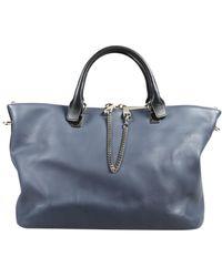 Chloé Baylee Blue Leather Handbag