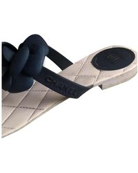 Chanel Leder Flip-flops - Blau