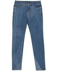 Chanel - Blue Cotton - Elasthane Jeans - Lyst