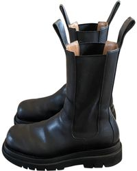 Bottega Veneta Leather Boots - Blue