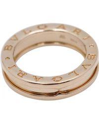 BVLGARI - B.zero1 Pink Gold Ring - Lyst