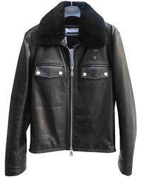CALVIN KLEIN 205W39NYC Leather Biker Jacket - Black