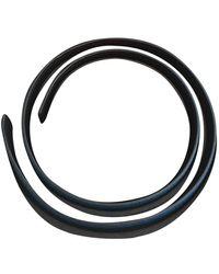 Hermès Cinturón en cuero negro Cuir seul / Leather Strap