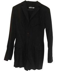 Jil Sander Black Wool Jumpsuits
