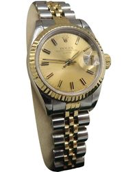 Rolex - Pre-owned Oyster Perpetual Lady Watch - Lyst