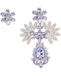 Burberry - Purple Crystal Earrings - Lyst