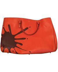 Anya Hindmarch Sac à main Ebury Maxi en Cuir Orange