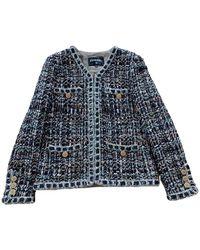 Chanel Tweed Kostüm - Blau