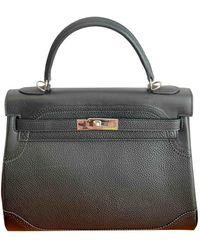 Hermès Kelly 32 Leder Handtaschen - Schwarz