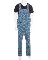 Louis Vuitton - Blue Cotton Suits - Lyst