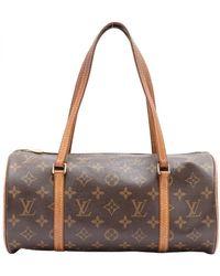 Louis Vuitton Papillon Cloth Handbag - Brown