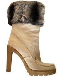 Dior Botas en chinchilla beige - Neutro