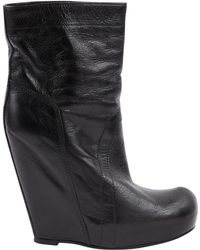 Rick Owens - Pre-owned Black Leather Boots - Lyst