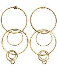 Jennifer Fisher Pendientes en metal dorado - Metálico