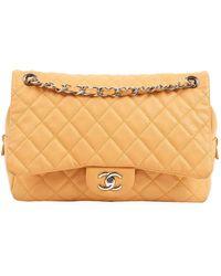Chanel Borsa a mano in pelle beige Timeless/Classique - Neutro