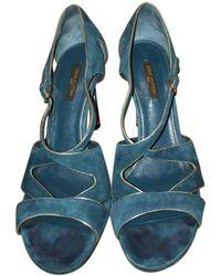 Louis Vuitton Tacones en ante - Azul