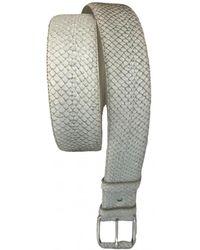 Helmut Lang Python Belt - Natural